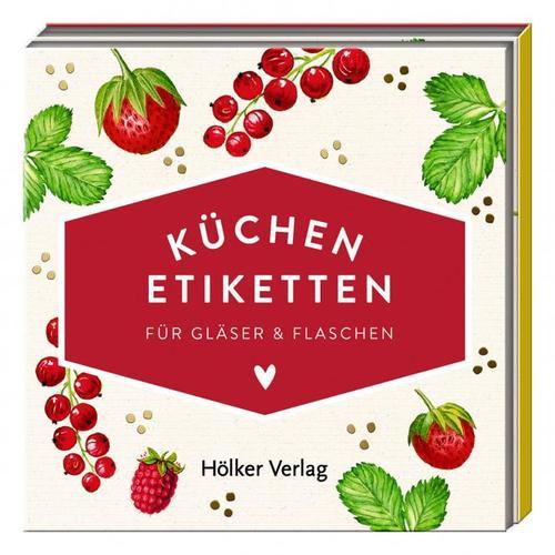 Küchen-Etiketten für Gläser und Flaschen, Rote Beeren