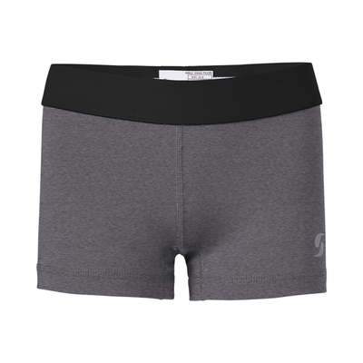 Soffe 1110G Girls Dri Short in Grey Heather/Black size XL | Polyester/Spandex Blend