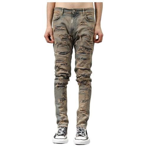 Represent Jeans shredded denim
