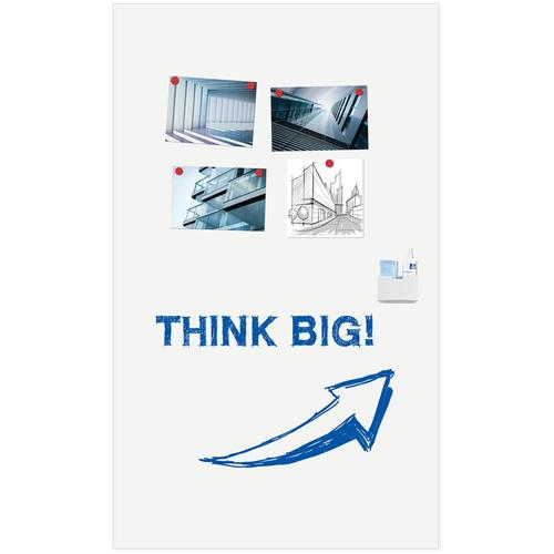 WALL-UP frameloos whiteboard / whiteboardwand paneel - 200x119,5 cm