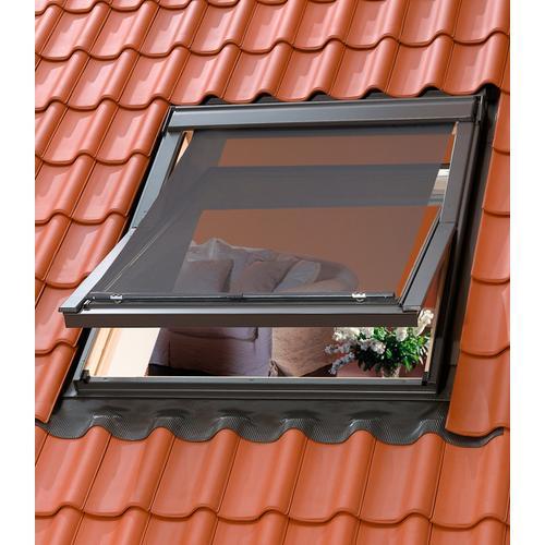 VELUX Dachfensterrollo, blickdicht, Hitzeschutzmarkise für Dachfenstergröße: 204/206 schwarz Verdunkelungsrollos Rollos Jalousien Dachfensterrollo