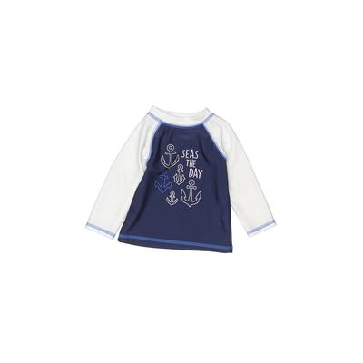 Cat & Jack Rash Guard: Blue Solid Sporting & Activewear – Size 3-6 Month