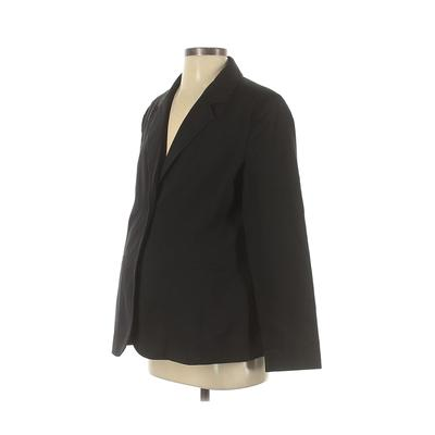 New Additions Maternity Blazer Jacket: Black Solid Jackets & Outerwear - Size Small Maternity
