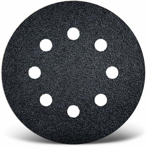 50 MENZER Klett-Schleifscheiben f. Exzenterschleifer, Ø 125 mm / 8-Loch / K320 / Siliciumcarbid