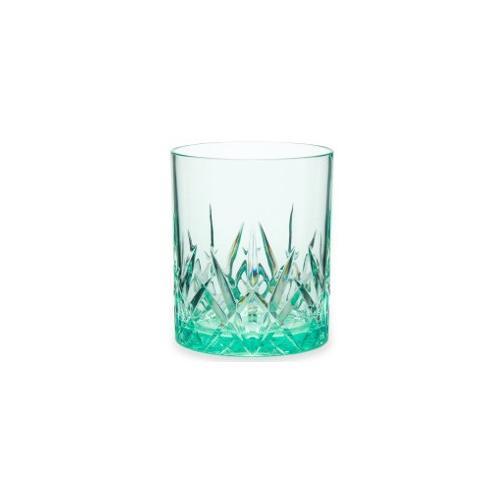 Q Squared NYC Whiskyglas, (Set, 3 tlg., x Gläser), aus sicherem Material - TRITAN-Kunststoff, 300 ml grün Whiskygläser Gläser Glaswaren Haushaltswaren Whiskyglas