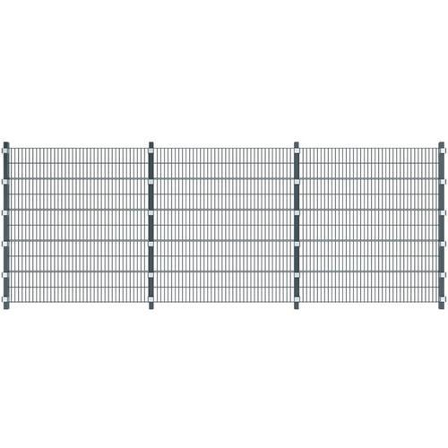 Vidaxl - Zaunfelder 3 Stk. Eisen 6 x 2 m 18 m (Gesamtlänge) Anthrazit