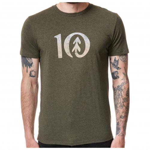 tentree - Gradient Ten T-Shirt Gr XL oliv