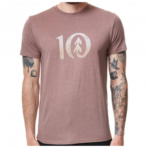 tentree - Gradient Ten T-Shirt Gr L grau/beige