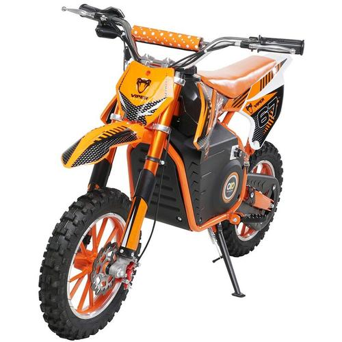 Kinder Mini Enduro Crossbike Viper Elektro 1000 Watt Motorcrossbike Pocketbike (Orange)