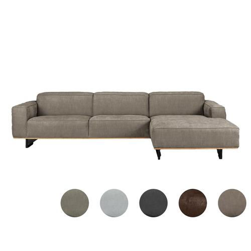 Carla & Marge »Pinorja« Sofa 4-Sitzer Récamiere links / Rustic