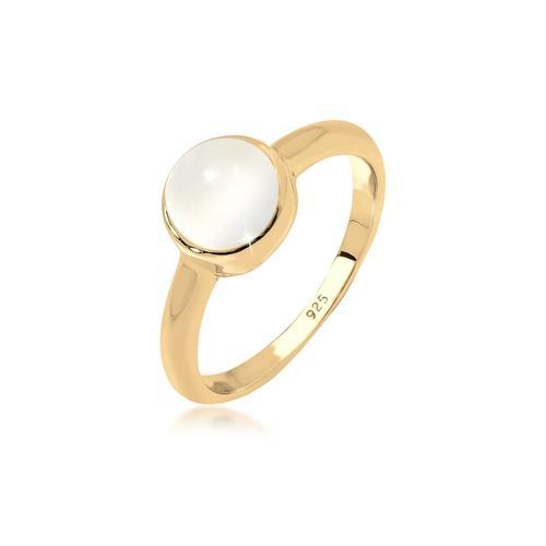 Ring Trend Bandring Mondstein Edelstein 925 Silber Elli Gold