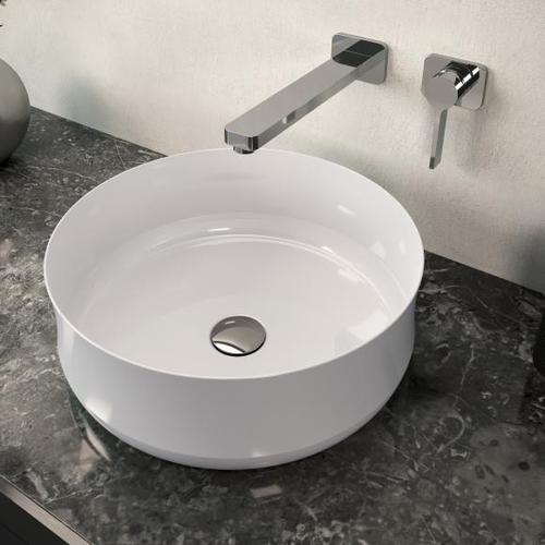 Kaldewei Ming Aufsatzwaschtisch Ø 40 H: 15,4 cm weiß 913306003001