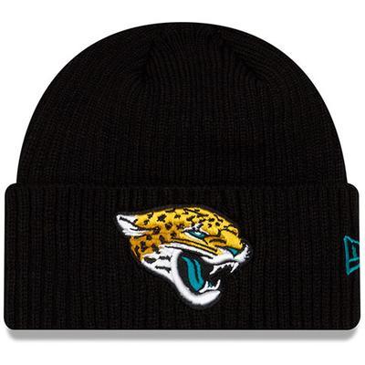 Youth New Era Black Jacksonville Jaguars Core Classic Cuffed Knit Hat