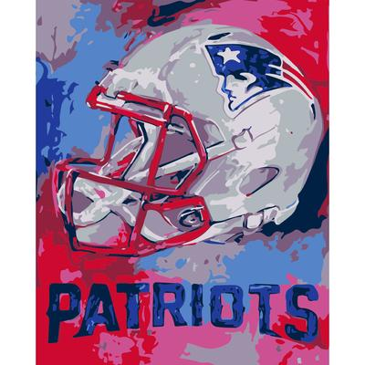 New England Patriots Team Pride Paint By Number Kit