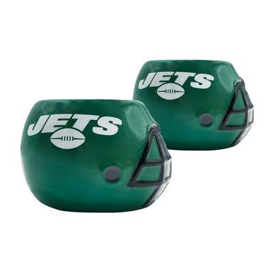 New York Jets 2-Piece Ceramic Helmet Planter Set