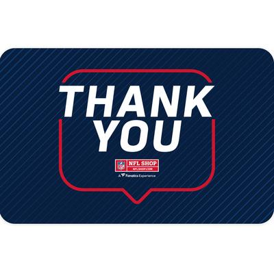 NFL Shop Thank You Gift Card ($10 - $500)