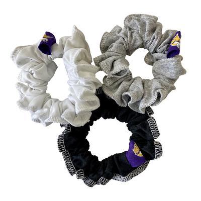 Refried Apparel Minnesota Vikings Upcycled 3-Pack Scrunchie Set