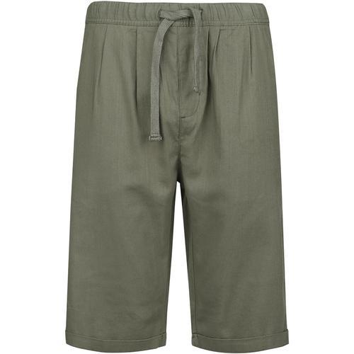 RED by EMP Khakifarbene Shorts aus leichtem Material Herren-Short - khaki