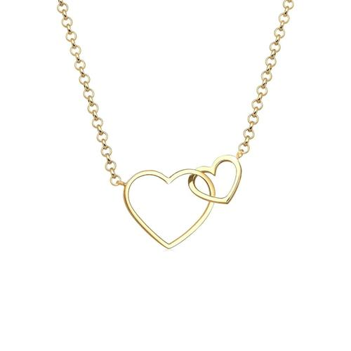 Halskette Herz Unendlichkeit Liebe 925 Sterling Silber Elli Gold