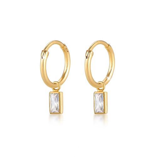 Ohrringe Creolen Zirkonia Kristalle 925 Sterling Silber Elli Gold
