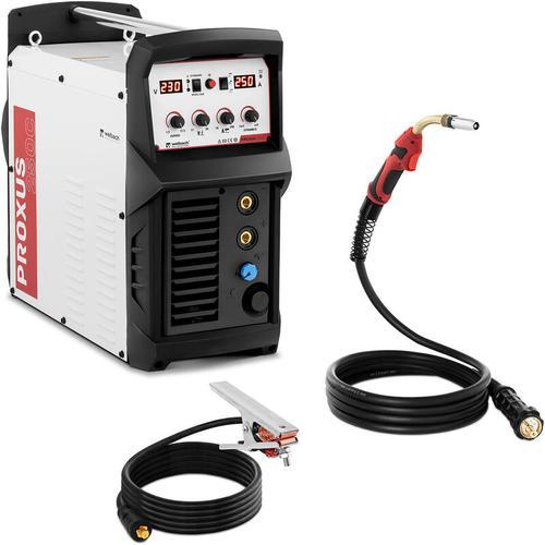 Stamos - MIG MAG Schweißgerät Schutzgasschweißgerät Drahtschweißgerät 250 A MMA 230 V