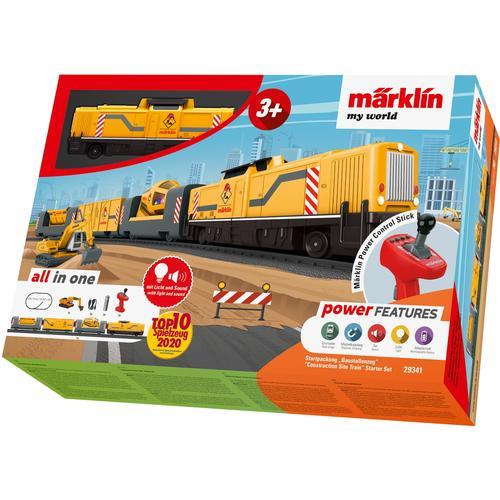 Märklin Modelleisenbahn-Set my world - Baustellenzug 29341, für Einsteiger, mit Licht und Soundeffekten gelb Kinder Modelleisenbahn-Sets Modelleisenbahnen Autos, Eisenbahn Modellbau
