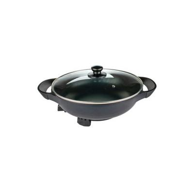 Brentwood Appliances Black 13-Inch Non-Stick Flat-Bottom Electric Wok Skillet with Vented Glass Lid
