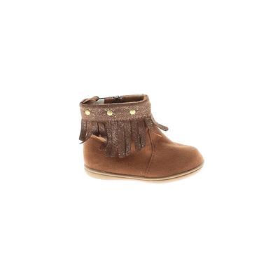 Koala Kids - Koala Kids Ankle Boots: Brown Solid Shoes - Size 3