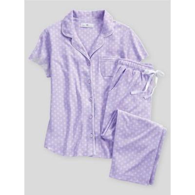 Women's Karen Neuburger Spring Meadow Foulard Capri Pajamas, Foulard XL Misses