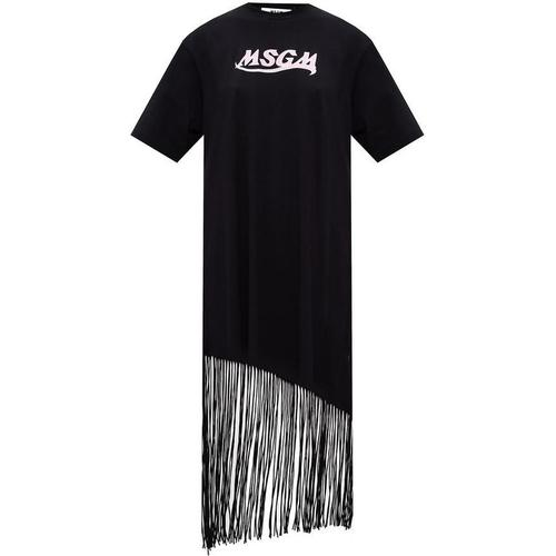 MSGM Fringed dress