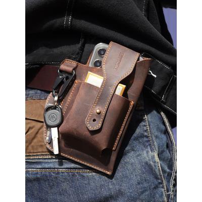 Sac de ceinture en cuir pour tél...