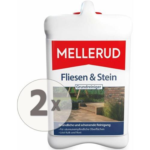 2 x 2,5 Liter Fliesen und Stein Grundreiniger - Mellerud