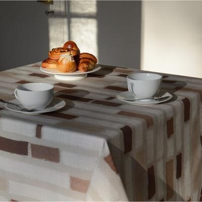 Nappe enduite rectangle 160 x 300 cm chocolat