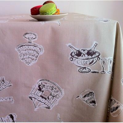 Nappe enduite rectangle 160 x 240 cm taupe