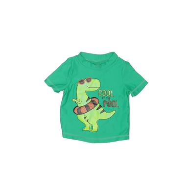 Just One You Made by Carters Rash Guard: Green Solid Sporting & Activewear - Size 9 Month