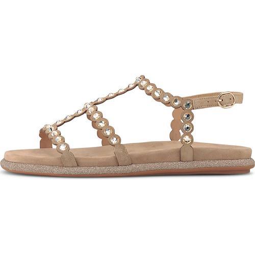 Alma en Pena, Ethno-Sandale in beige, Sandalen für Damen Gr. 36
