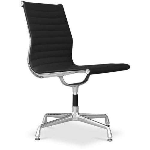 Bürostuhl T5 - Hochwertiges Leder Schwarz