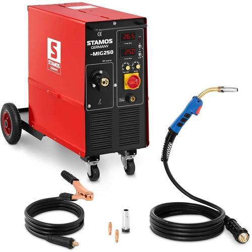 Stamos Welding - Schweißgerät MIG MAG Schutzgas 250 A 400 V ED 60 % Schweißmaschine STAMOS