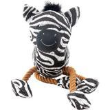 Charming Pet Dangle Dudes Zebra Squeaky Dog Toy