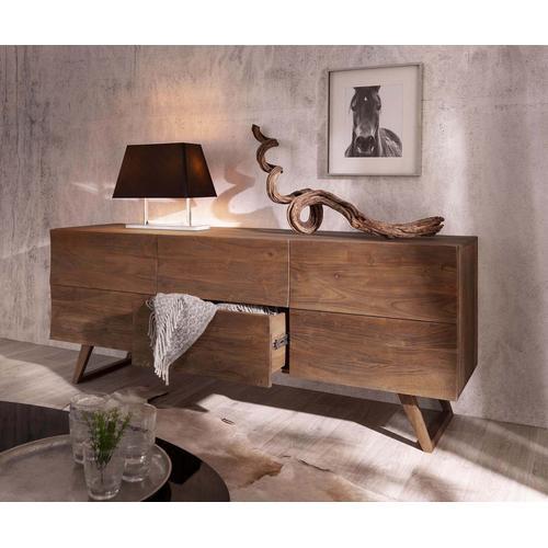 DELIFE Design-Sideboard Wyatt 177 cm Akazie Braun 2 Türen, Sideboards