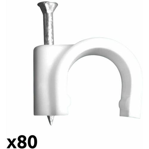 Kabelschelle Ø16mm weiß (80 Stück) - Zenitech