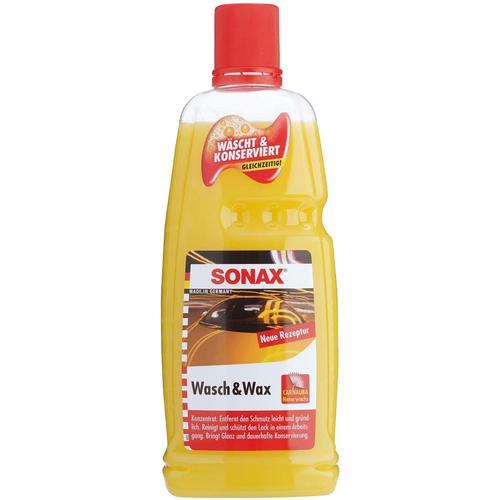 Sonax Lackreinger Wasch&Wax, 1 l gelb Lackreiniger Reinigungsmittel Reinigungsgeräte Küche Ordnung