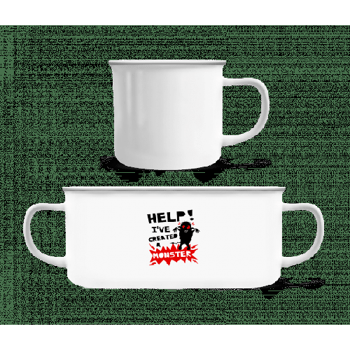 Help Ive Created A Monster - Emaille-Tasse