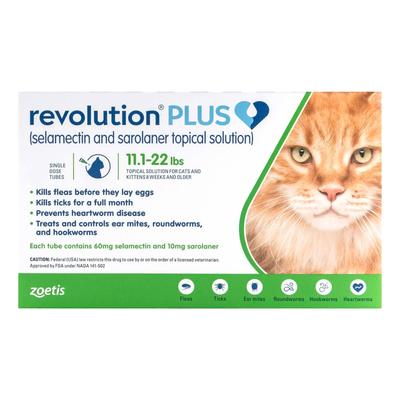 Revolution Plus For Large Cats 11-24lbs (5-10kg) Green 3 Pack -