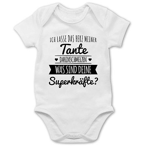 Statement Sprüche Baby Tante Herz dahinschmelzen Bodys Kinder weiß Baby