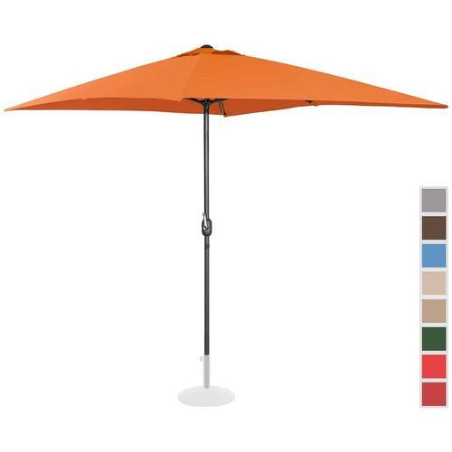 Sonnenschirm groß Gartenschirm (rechteckig, 200 x 300 cm, orange) - Uniprodo