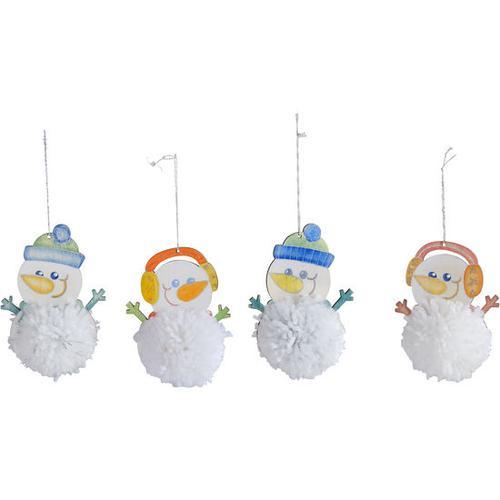 Pompon-Schneemänner