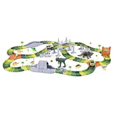 Grand coffret circuit flexible à construire avec dinosaures : Coffret 1