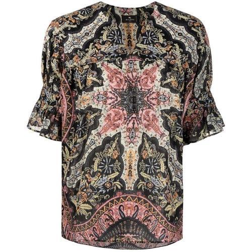 Etro T-Shirt mit geometrischem Print