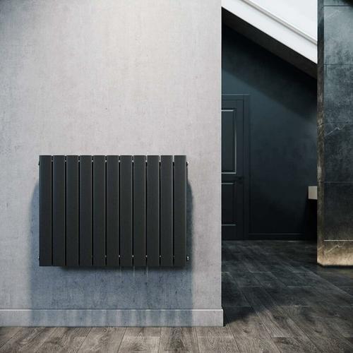 Paneelheizkörper Horizontal 630 x 847 mm Anthrazit Badezimmer/Wohnraum Doppellagig Horizontal
